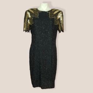 VTG Stenay Beaded & Sequined Cocktail Dress
